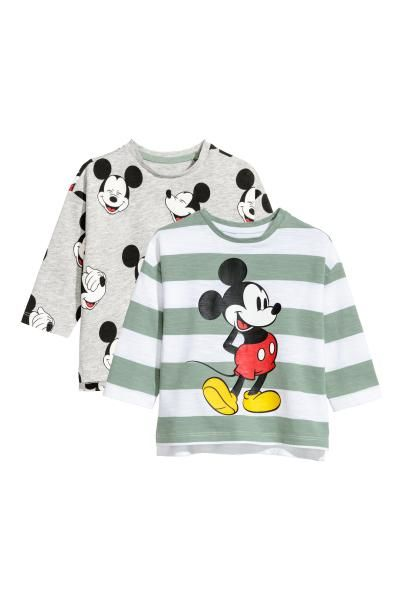 Disney Baby Mickey Mouse Boys Long Sleeve Tops 2 Pack