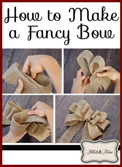 PERFECT Burlap Bow Tutorial I had no idea how to make bows before this. Super clear, step-by-step directions and pictures.Welcome to Ideas of Simply Sweet DIY Burlap Bow article. In this post, you'll enjoy a picture of Simply Sweet DIY Burlap Bow des Diy Bow, Diy Ribbon, Ribbon Hair, Ribbon Flower, Hair Bows, Burlap Bow Tutorial, Flower Tutorial, Diy Tutorial, Making Bows For Wreaths