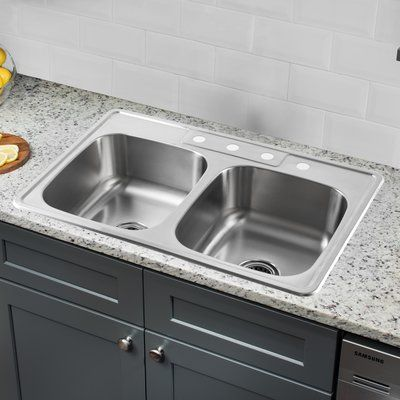IPT Sink Company 20 Gauge Stainless Steel 33\