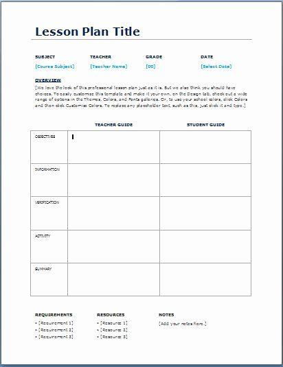 Common Core Lesson Plan Template Doc Lovely Teacher Daily Lesson