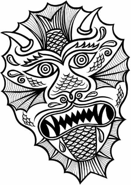 Chinese Dragon Head Coloring Sheet | Coloring sheets ...