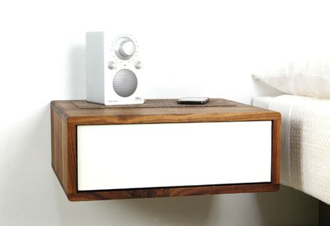 Floating Side Table by Urbancase Bedrooms Nightstands and Wall