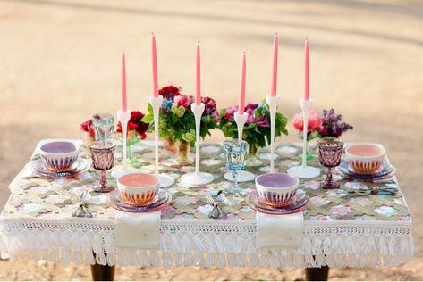 bohemian chic tablescape