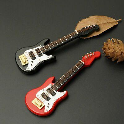 1//12 Dollhouse Mini Electric Guitar For Doll House R8H9 DIY Red Toy Fine De Y8Y1