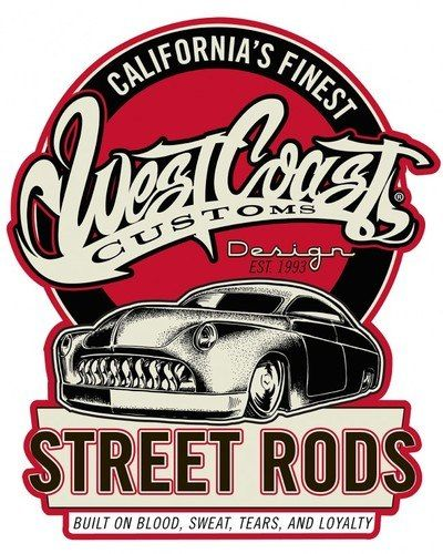 West Coast Street Rods Shield Metal Sign 20 X 16 Inches With