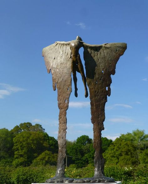Buy Icarus Rising VIII, a Bronze Sculpture on Bronze, by Nicola Godden from United Kingdom,