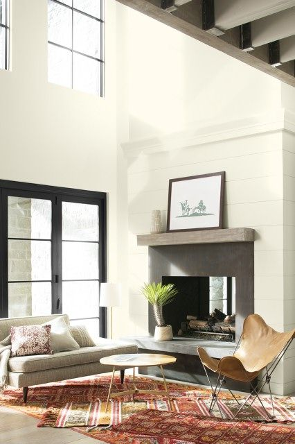 White Off White Paint Color By Family Benjamin Moore White Paint Colors Living Room With Fireplace Living Room Color