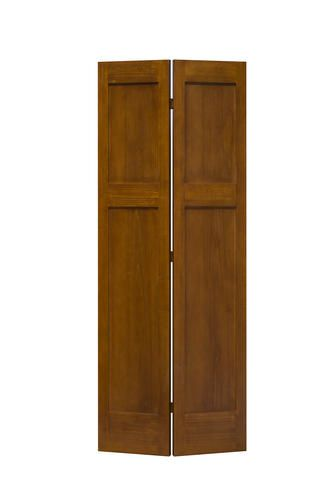 Mastercraft Reg 36 W X 80 H Prefinished Gunstock Poplar 3 Panel Mission Flat Bifold Door Tall Cabinet Storage Bifold Doors Menards