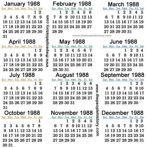 1988 Calendar Tarjetas De Cumpleanos Amiga Calendario
