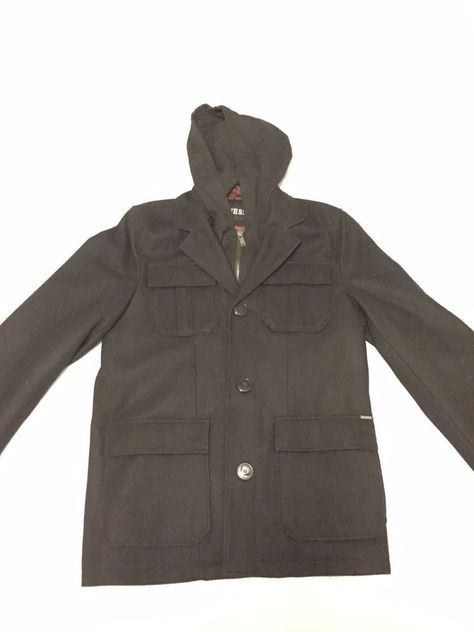 GUESS Mens 4-Pocket Military Coat