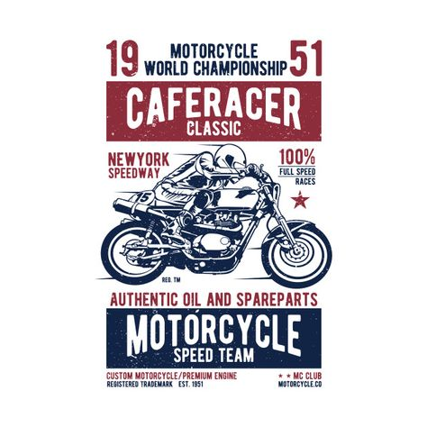Check out this awesome 'Vintage+Motorcycle+Shirt+Sportbike+Racing' design on @TeePublic!