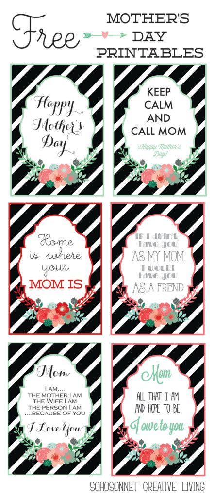 Free Mother�s Day Printables {Cards   Prints}