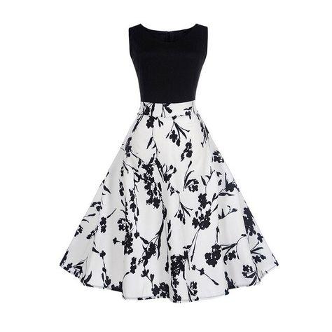Damen Kleider Frauen Vintage Retro Blumen Drucken Prinzessin Abendkleid Hevoiok Kleidung Mode Bodycon Partykleid Elegant /Ärmellos Prom Swing Kleid