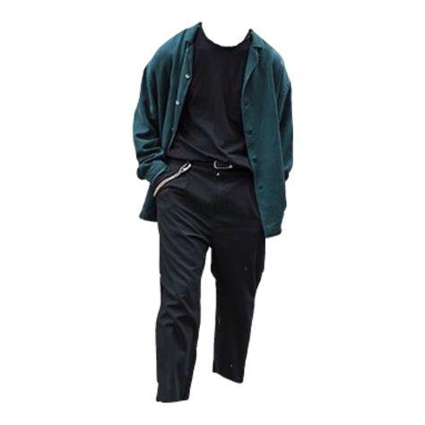 Black green blue Polyvore moodboard filler outfit