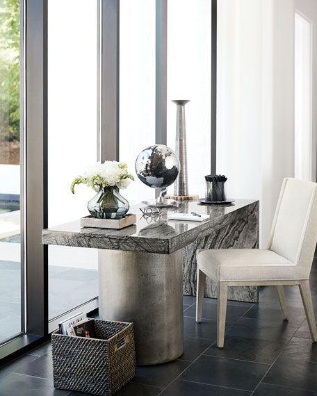 Bernhardt Linea Pedestal Writing Desk Modern Home Office