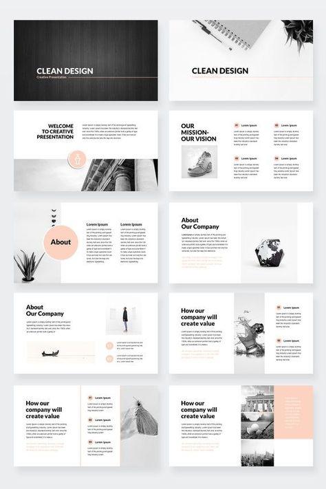 Clean Design Minimal PowerPoint Presentation Template