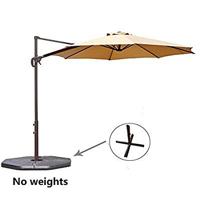 Amazon Com Le Papillon 10 Ft Cantilever Umbrella Outdoor Offset Patio Umbrella Easy Open Lift 360 De Patio Umbrella Offset Patio Umbrella Cantilever Umbrella
