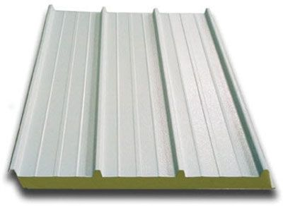 PREFORMED METAL ROOF PANELS   Shaped Pieces Of Metal Or Assemblies Of Metal  Facing With Insulation Between That Are Self Supporting And Span Intermu2026