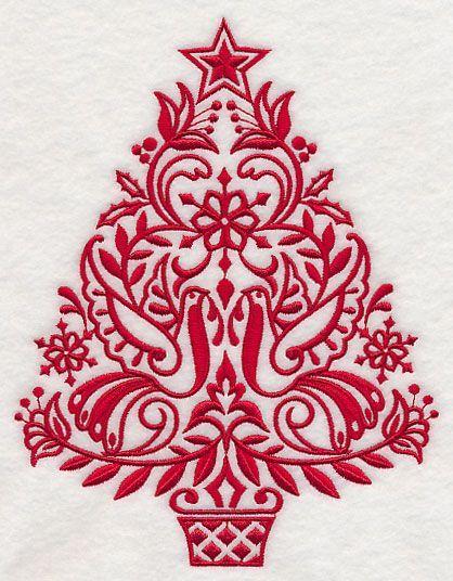 Scandinavian Christmas Tree Christmas Embroidery Scandinavian Christmas Trees Christmas Tree Design