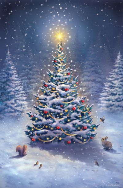 Merry Christmas Pictures, Christmas Scenery, Christmas Artwork, Vintage Christmas Images, Noel Christmas, Christmas Paintings, Christmas Wishes, Christmas Themes, Beautiful Christmas Pictures