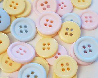 White 10 Heart Shape Buttons Yellow 15mm