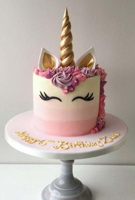 Pink gold unicorn cake celebration cakes unicorncake 10 magical unicorn cakes to inspire your next party dessert Easy Unicorn Cake, Unicorn Cake Pops, Unicorn Cale, Unicorn Birthday Cakes, Cake Birthday, How To Make A Unicorn Cake, Colorful Birthday Cake, Birthday Kids, Fondant Cake Toppers