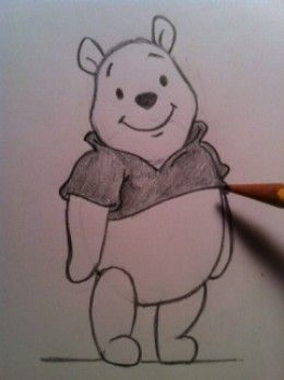 Quatang Gallery- How To Draw Winnie The Pooh Winnie The Pooh Drawing Cartoon Drawings Disney Drawings