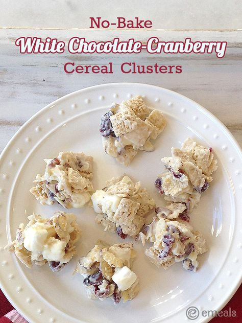 White Chocolate-Cranberry Cereal Clusters   eMeals