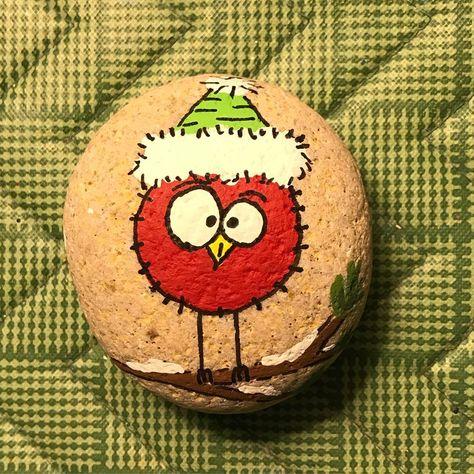 paintedstonesofinstagram #paintedrocks #rockart...