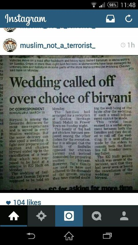 How absurd... Wedding cancelled because of food choice... Typical