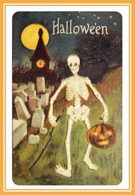 Image Result For Free Printable Vintage Halloween Postcards Vintage Halloween Printables Vintage Halloween Images Halloween Greetings