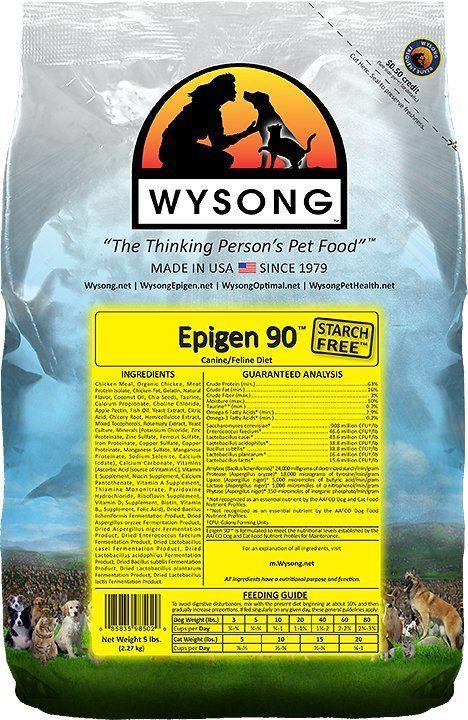 Wysong Epigen 90 Dog Food Recipes Dog Skin Allergies Best Cat Food