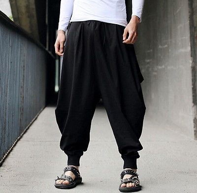 Hippy Boho One Size Comfortable Harem Trousers Baggy Drop Seat 100/% Cotton