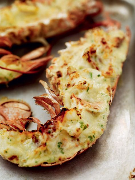 This dish gained a bad reputation during the Seventies and Eighties because it was often cooked so badly – drowned in an overpowering sea of rich, cheesy sauce. If it's made with a just a little sauce that's been carefully flavoured with small amounts of mustard, tarragon and Gruyère, it's still one of the best hot lobster dishes there is.