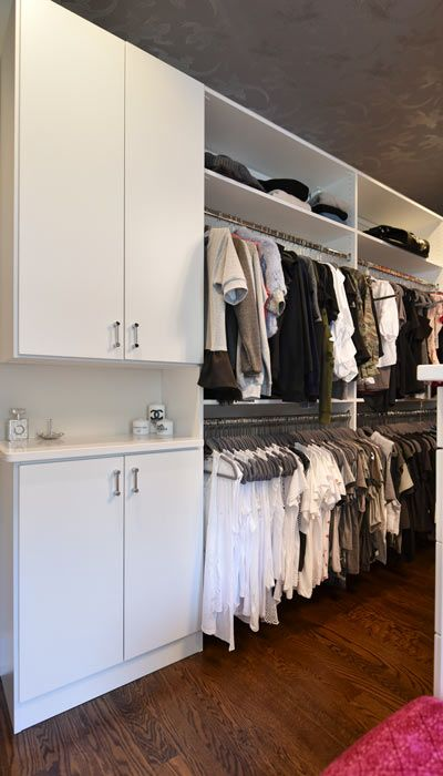 Double Hang And Closet Cabinets Closet In 2019 Closet Designs