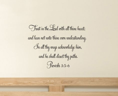 Proverbs 35-6 Wall Decals