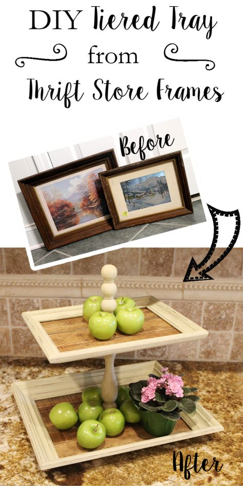 DIY Tiered Tray from frames- What Treasures Await