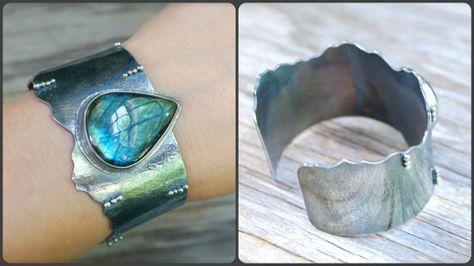 RESERVED - (deposit) - Labradorite cuff bracelet. Sterling silver statement rustic large labradroite bracelet. Blue labradorite large cuff.