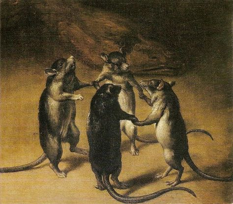~ Ferdinand van Kessel Der Tanz der Ratten (The dance of the rats), c. Oil on canvas Fox Squirrel, Francisco Goya, Fallen London, Arte Horror, Ferdinand, Conte, Surreal Art, 17th Century, Unique Art
