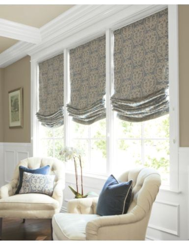 Roman Shade Idea For New House Living Room Dining Room Curtains