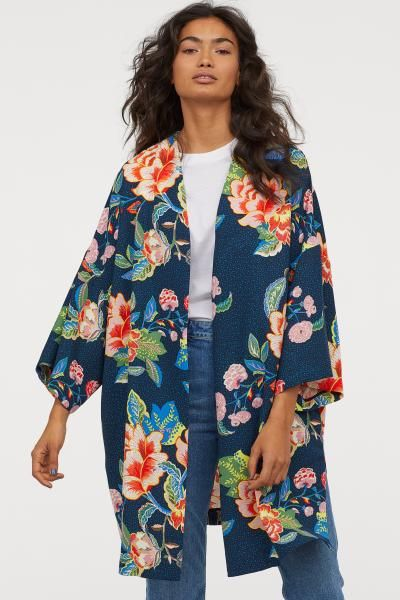 UK Womens Belt Kimono Jackets Floral Print Coat Dress Loose Cardigan Blouse Tops