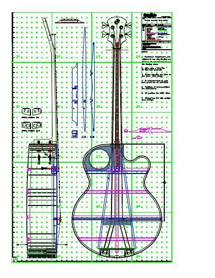 View Or Download Tiled Tinozza Acoustic Bass Guitar Plan Pdf Acoustic Bass Guitar Acoustic Bass Bass Guitar