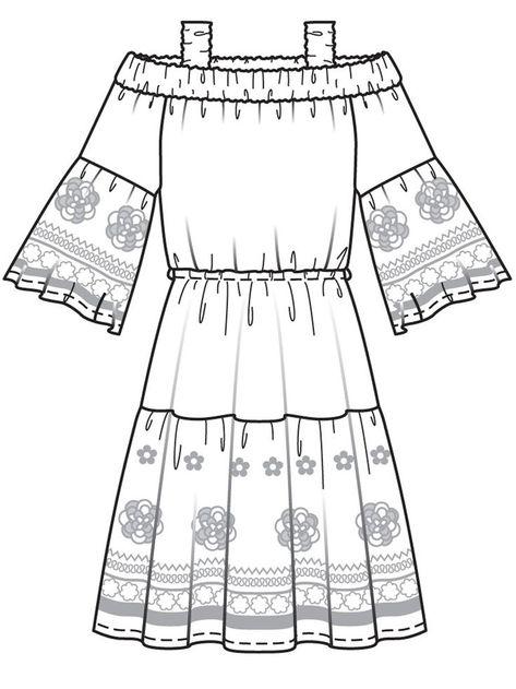 Платье с вырезом кармен - выкройка № 4 A из журнала 1/2017 Burda. Шить легко и быстро – выкройки платьев на - #Blusasdemoda #Modacasual #Modaestilo #Modaparadamas #Outfitscasuales #Ropademoda