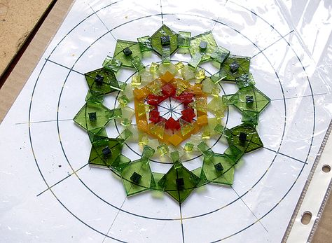 Pictures in stream show all the steps used to create gorgeous fused glass art