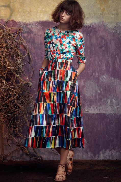 FROCKAGE: Saloni Spring 2015 RTW Collection. Wonderful colours, Must be devilish to match up though.