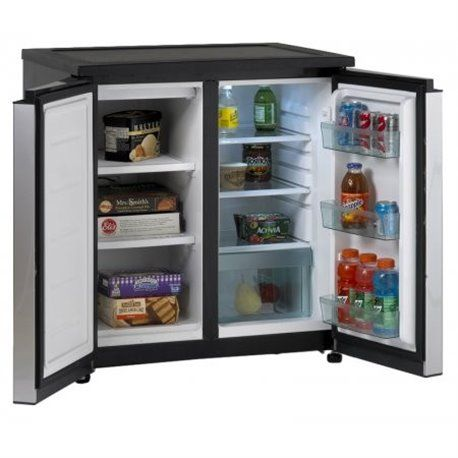 Avanti Rms551ss 5 5 Cubic Feet Side By Side Compact Refrigerator In Stainless Steel Mini Fridge With Freezer Undercounter Refrigerator Refrigerator Freezer