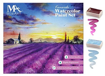 Mozart Supplies Komorebi Japanese Watercolor Paint Set 40 Colors