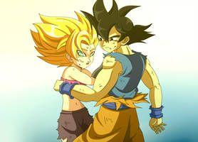 Goku And Caulifla Ship By Masterfire20 Dragon Ball Super Artwork Dragon Ball Super Art Goku Super