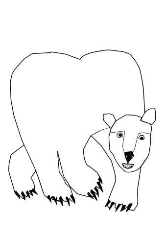 Click To See Printable Version Of Polar Bear Polar Bear What Do You Hear Coloring Page Polar Bear Coloring Page Polar Animals Polar Bear Color