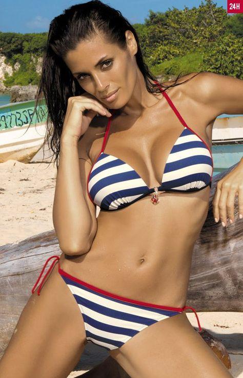 Marko Celine M-257 kostium kąpielowy Marynarski styl nadal w modzie! Stylowe bikini, które dodaje wdzięku i seksapilu